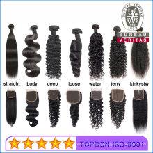 Human Hair Virgin Bundles Wig 100% Real Brazilian Hair Human Hair Extensions No Shedding Black Body Wave 100g Thick Hair End