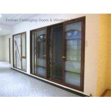 Puertas de patio contemporáneas de aluminio (FT-D126)