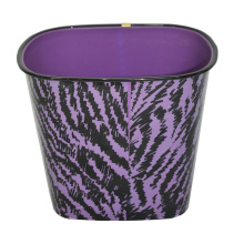 Plastic Wood Pattern Printed Open Top Garbage Bin (B06-069-2)