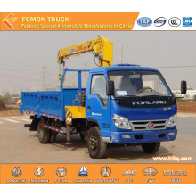 Foton forland 2tons small 4x4 truck mounted crane