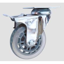 Industrial Caster Flat Transparent Caster with Whole Brake