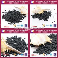 fabricant d'or Anthracite charbon cylindrique raffinerie de pétrole charbon actif