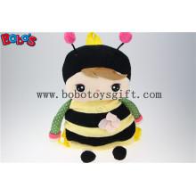 """19.6 """"Cartoon Crianças Plush Mochila Backpack Bees Modelagem Para Alunos Jardim De Infância Bos-1223 / 50cm"""