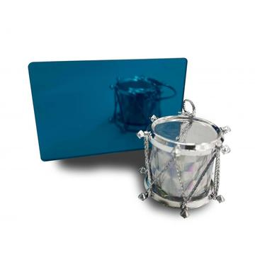 Acrylique miroir bleu ciel