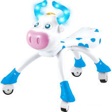 Updated Version Blue & Pink Lovely Cow Baby Walking Car with Wheels Animals Kids Ride on Car 10218546