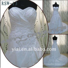 RSW-13 A-Line Drop Waist Side Draped Layered Wedding Dress