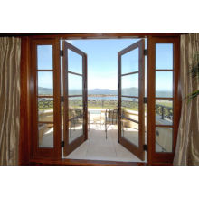 New Design Beautiful Wood Glass Balcony Door, French Door
