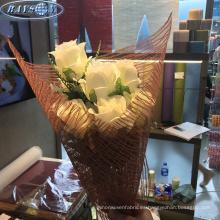 flor que envuelve el papel de embalaje no tejido fresco de la flor de la fibra
