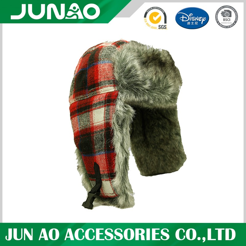 winter fur trapper hat