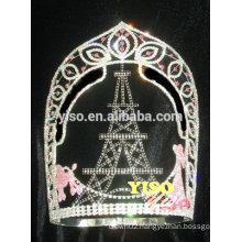 beauty pageant hot sale castle princess jewelry tiara crown