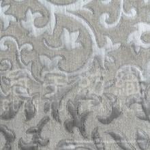 Tecido para sofá com fio tingido de poliéster jacquard chenille
