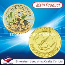 Souvenir Médaille de pièces personnalisées / Champion de sport Gold Soccer Badge Metal Coins (LZY1300062)