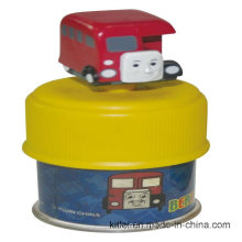 Wholesale Colorful Customed Vinyl PVC Christmas Train Money Plastic Train Box Toy