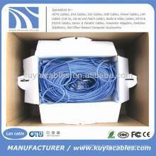 1000 pies UTP cat5e cat6e Cable de red de la red de Ethernet 300m