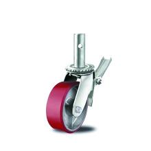 PU de alta resistencia sobre ruedas de andamio de hierro fundido