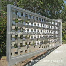 Unique stainless steel garden fence for home