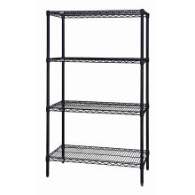 NSF Black Coating Metal Wire Shelving Rack Fabricant