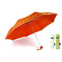Butterfly Print 3 Fold paraguas de aluminio a prueba de viento (YS-3FM21083944R)