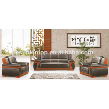Diseño moderno de los sofás del cuero para la oficina, muebles del sofá de la oficina diseña y vende, fabricante de los muebles de oficina en Foshan (KS13)