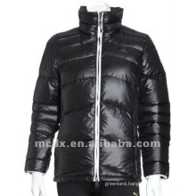 Women black feather down winter coats