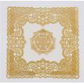 20cm Runde Form Gold Spitze PVC Deckchen Feature Öldicht, Wasserdicht