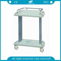 AG-LPT001A Luxury plastic ABS medical emergency treatment trolley with drawer