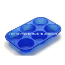 Molde de la torta de la forma redonda del gel del silicón (SE-299)