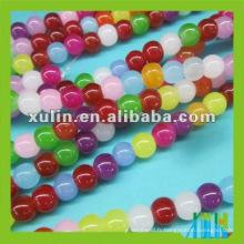 perles rondes en verre arc-en-ciel