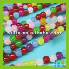 rainbow round glass beads