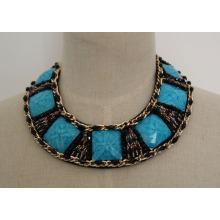 Ladeis Fashion Charm Zirkon Chokerhalsband Halskette (JE0039-2)