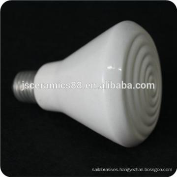 high temperature resistance E27 white infrared porcelain ceramic heating lamp