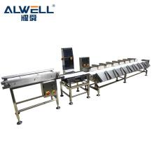 Automatic prawn weight sorting machine