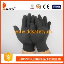 Горячие трикотажные перчатки ПВХ Dots-Dkp429