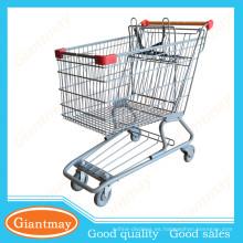 carro caliente del carrito de compras del supermercado de la cesta de alambre para la venta