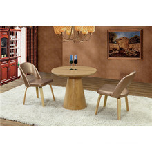 Round Solid Wood Restauant Furniture Set Dining Table (FOH-BCA50)