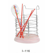 Oblique plastic bottom of the barrel iron shape metal chopsticks tube,chopstick barrelchopsticks rack chopsticks frame