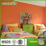 High performance inexpensive emulsion wall anti-bacterial paint