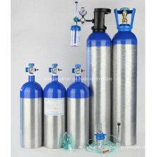 Cilindro médico do oxigênio da liga de alumínio