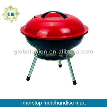 cast iron bbq grills red color