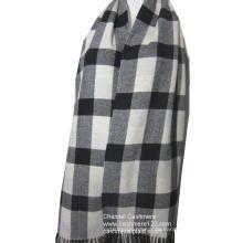 100% Wolle Elfenbein schwarz Scheck Schal
