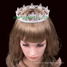 2016 Nueva corona cristalina del Rhinestone de la tiara del diseño de la flor