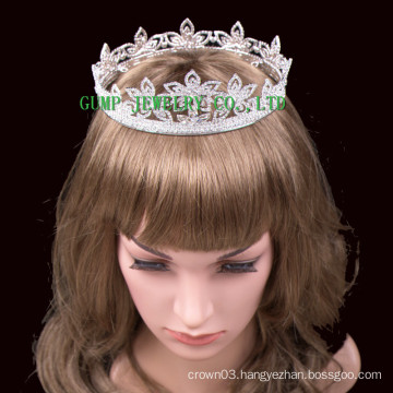 2016 New Flower Design Crystal Tiara Rhinestone Crown