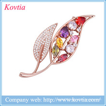 zircon jewelry brooches for women beautiful girls dress wholesale brooches and pins for dresses