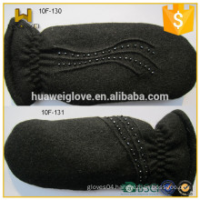Black cheap woolen gloves mittens winter gloves for women
