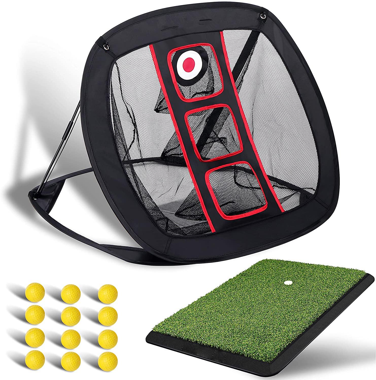 Golf Game Hitting Mat Set