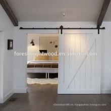 Tiras de madera de blanco puertas corredizas de amortiguador