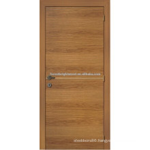 Veneered entry door of rustic wood style, traditional pine wood veneer door design