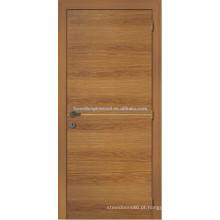 Porta de entrada folheadas de estilo rústico de madeira, projeto de porta de folheado de madeira de pinho tradicional