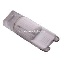 CE et ROHS céramique haute puissance SMD G9 ampoules LED avec couverture en silicone, 3 ans de garantie