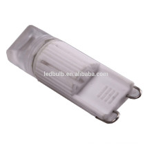 CE e ROHS base de cerâmica de alta potência SMD G9 levou lâmpadas com tampa de silicone, 3 anos de garantia